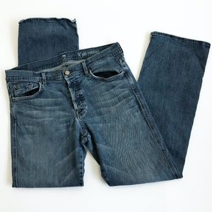 7 For All Mankind Men's Denim Button Fly Jeans